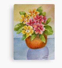 Polyanthus watercolour painting Canvas Print