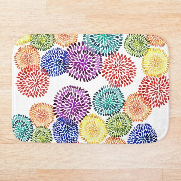Dancing Dahlias Bath Mat