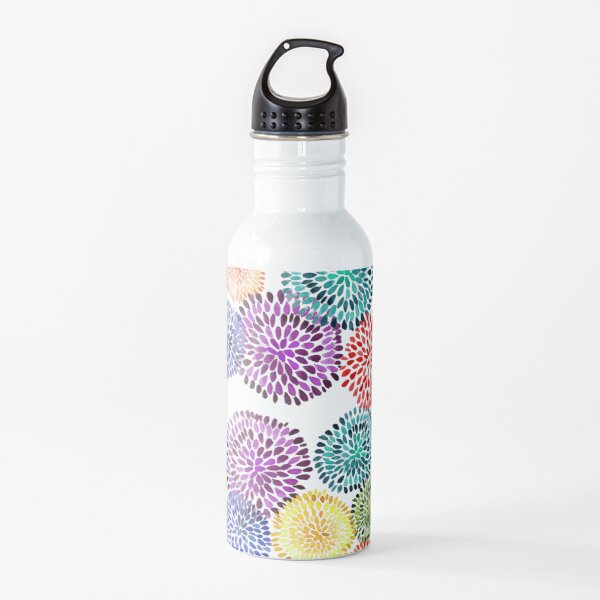 Dancing Dahlias Water Bottle