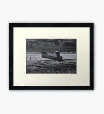 Estuary Boat - Burnham-on-Sea Framed Print