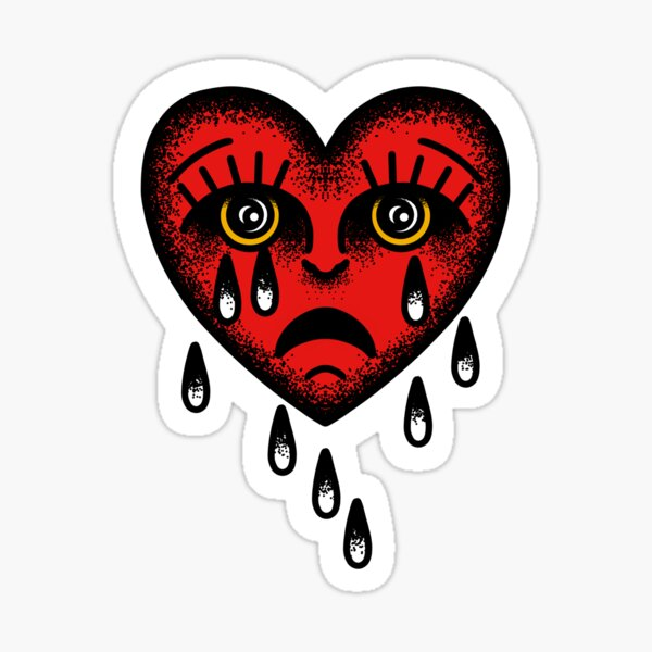 Sadboy Heart Sticker