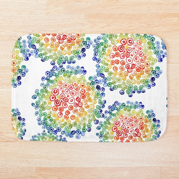 Color My Swirled Bath Mat