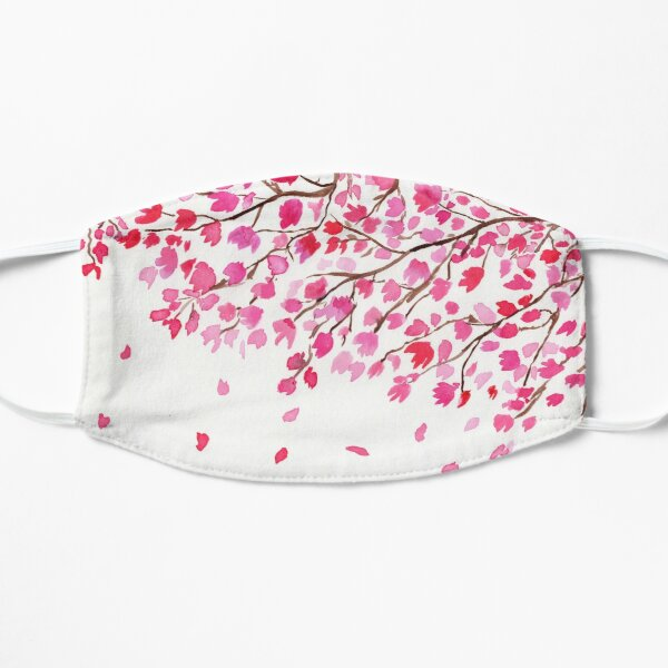 Rain of Cherry Blossoms Flat Mask