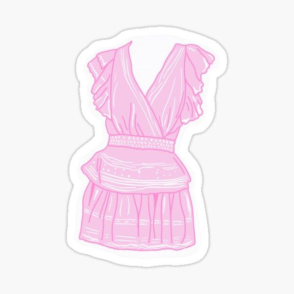 love shack fancy gwen dress Sticker