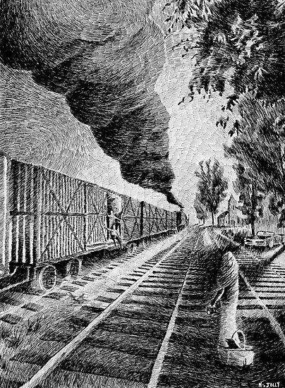 Fingerprint - Train - Black ink by nicolasjolly