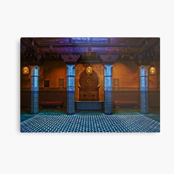 Moroccan Pavilion Fountain High Dynamic Range Metal Print