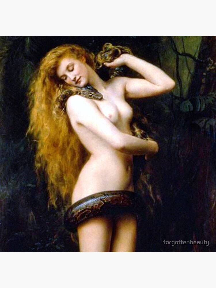 Lilith with the snake - John Collier 1886 by forgottenbeauty