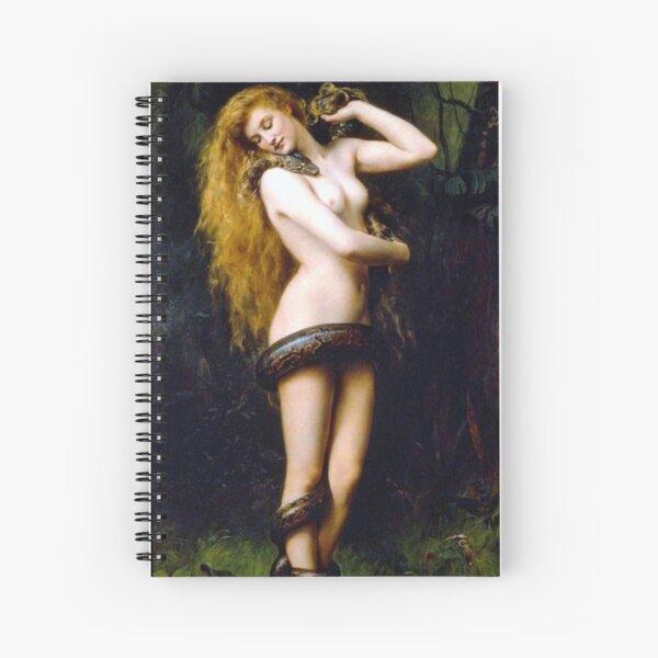 Lilith avec le serpent - John Collier 1886 Cahier à spirale