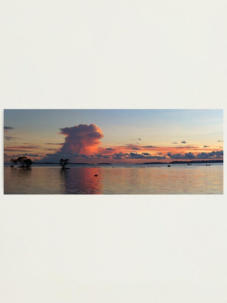 Alternate view of Sunset at Vavanga Photographic Print