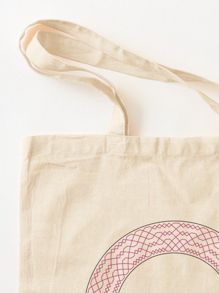Alternate view of Double Norwich Court Bob Major Method Wreath — Tote Bag Tote Bag