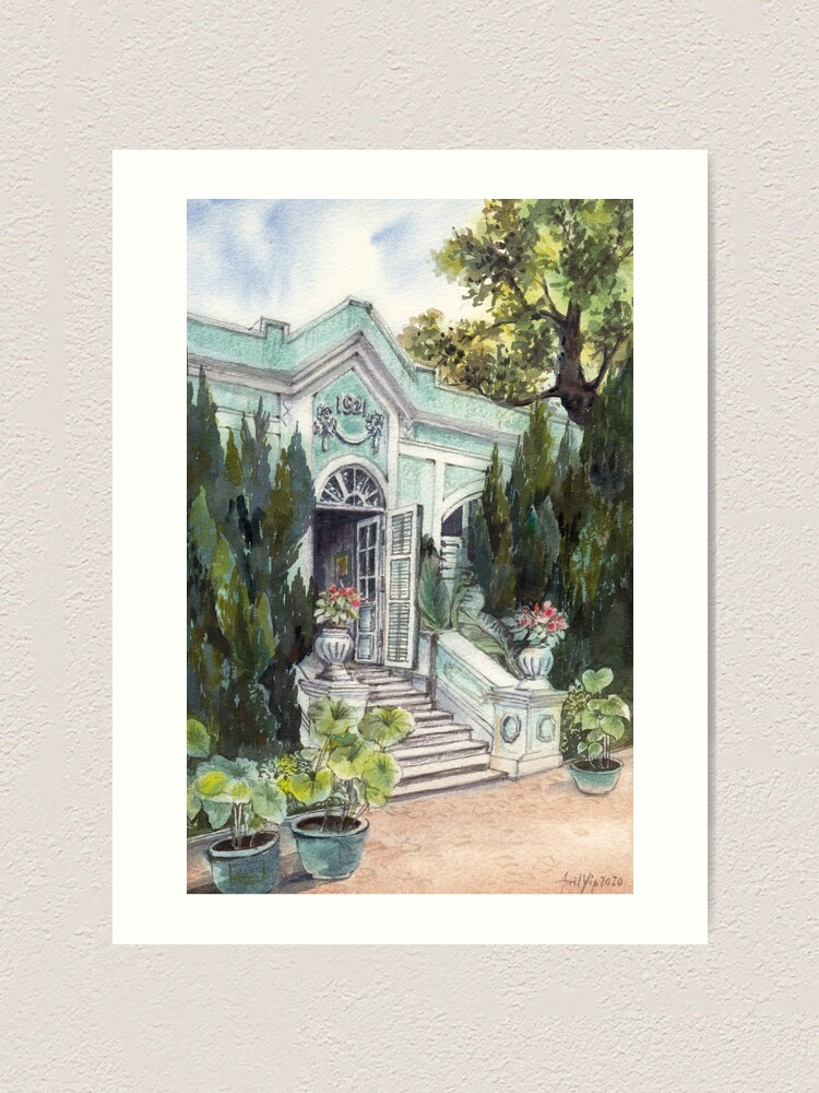 Alternate view of Taipa House Museum in Macau Art Print