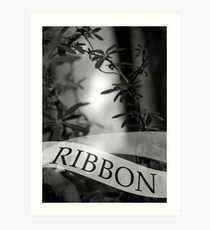 ribbon Art Print