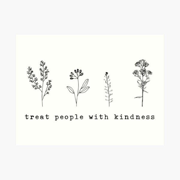 y podemos tratar a las personas con amabilidad. Lámina artística