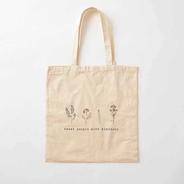 Treat People With Kindness Cotton Tote Bag