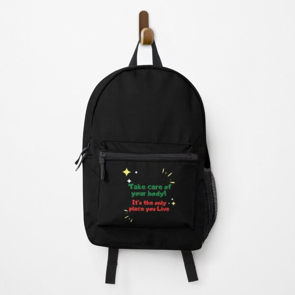 Take Care of your Body - Healthy Inspirational Design Backpack