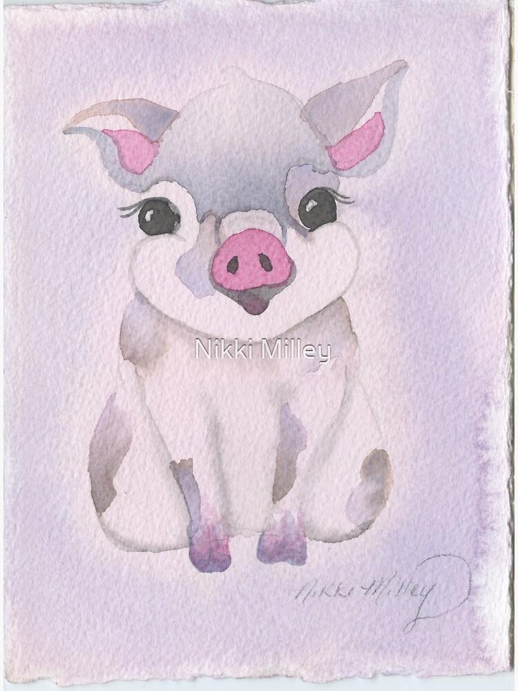 The Brush Babies Pig by nikkiMilleyart