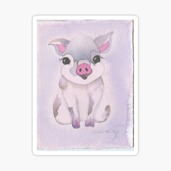 The Brush Babies Pig Sticker