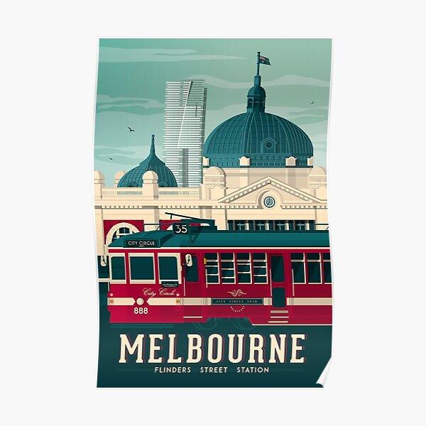 Melbourne Victoria - Flinders Street Station  Poster
