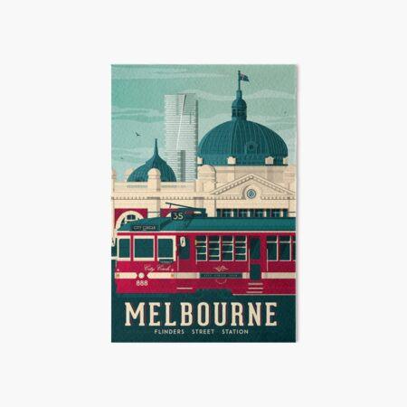 Melbourne Victoria - Flinders Street Station  Art Board Print