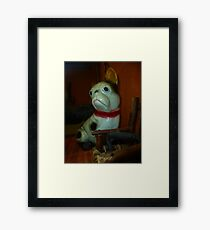 Doggie Doorstop Framed Print