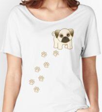 Cute Little Pug Puppy Dog Women's Relaxed Fit T-Shirt
