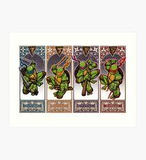Ninja Masters Art Print