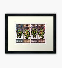 Ninja Masters Framed Print