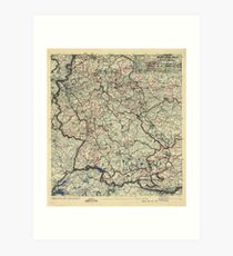 May 25 1945 World War II HQ Twelfth Army Group situation map Art Print