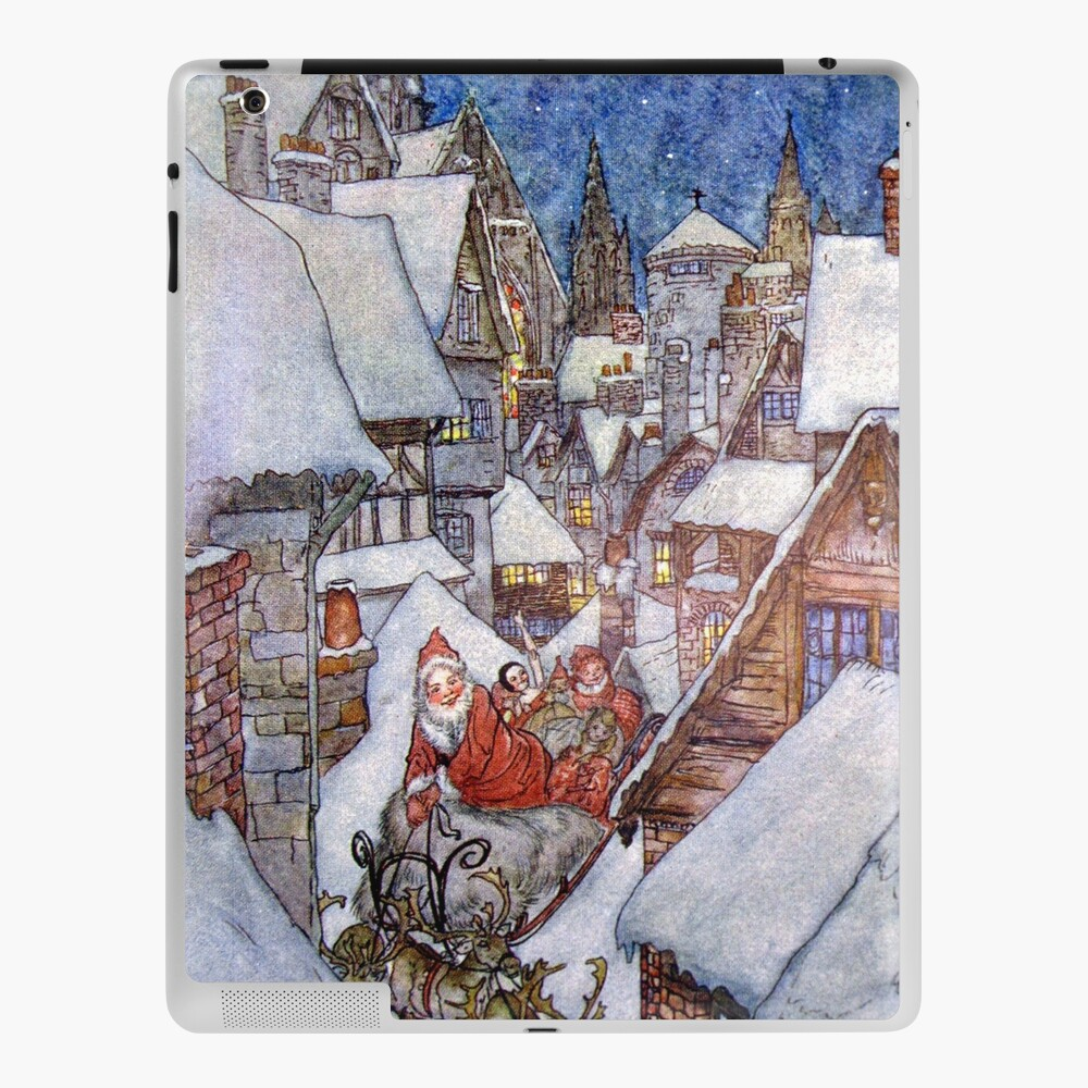 It Must Be Saint Nick Arthur Rackham For The Night Before Christmas Ipad Case Skin By Forgottenbeauty Redbubble