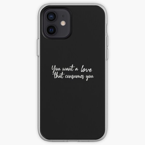 Damon Salvatore You want a love that consumes you Funda blanda para iPhone