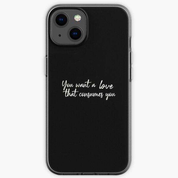 Damon Salvatore Vous voulez un amour qui vous consume Coque souple iPhone