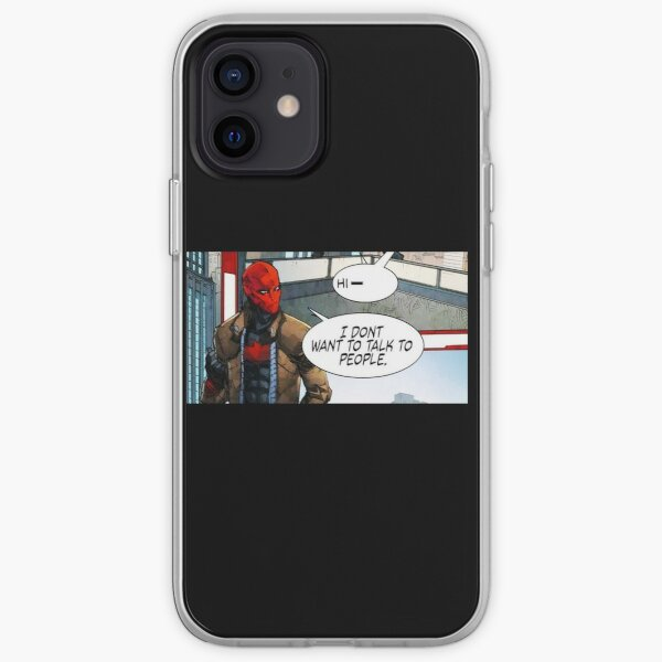 Red Hood - I Don't Want to Talk to People iPhone Soft Case