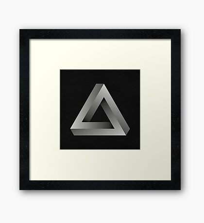 Infinite Triangle Framed Print