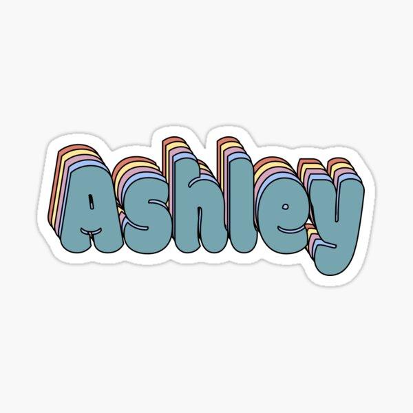 Ashley Nombre Pegatina