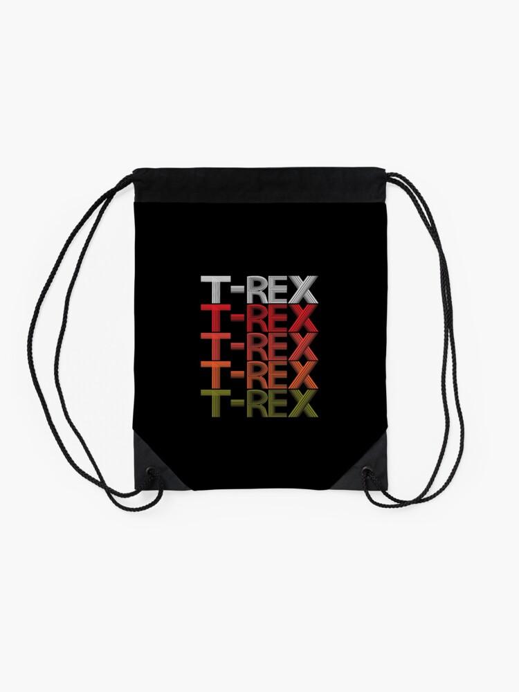 Alternate view of T-REX Tyrannosaur Prehistoric Predator Archeology. Drawstring Bag