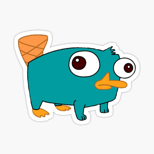 Perry the platypus baby from Phineas and Ferb Sticker