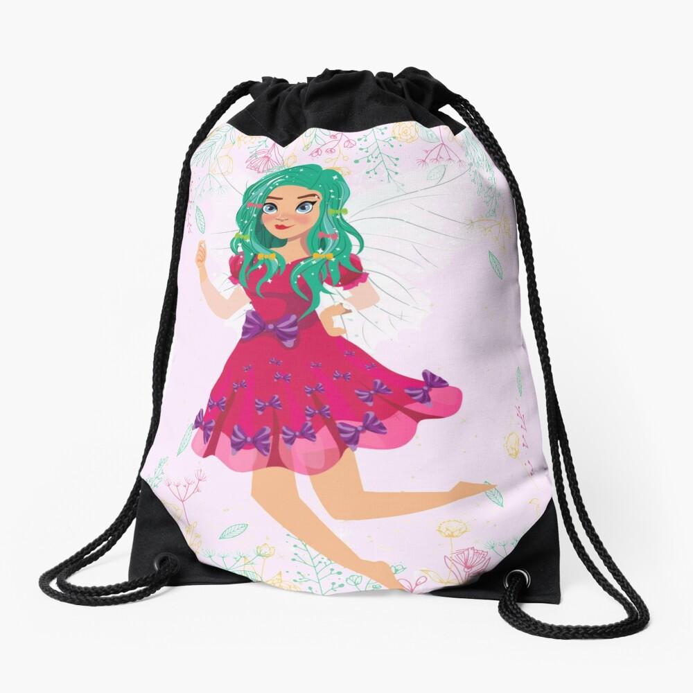 Ruby The Ribbon Fairy At Play™ Drawstring Bag