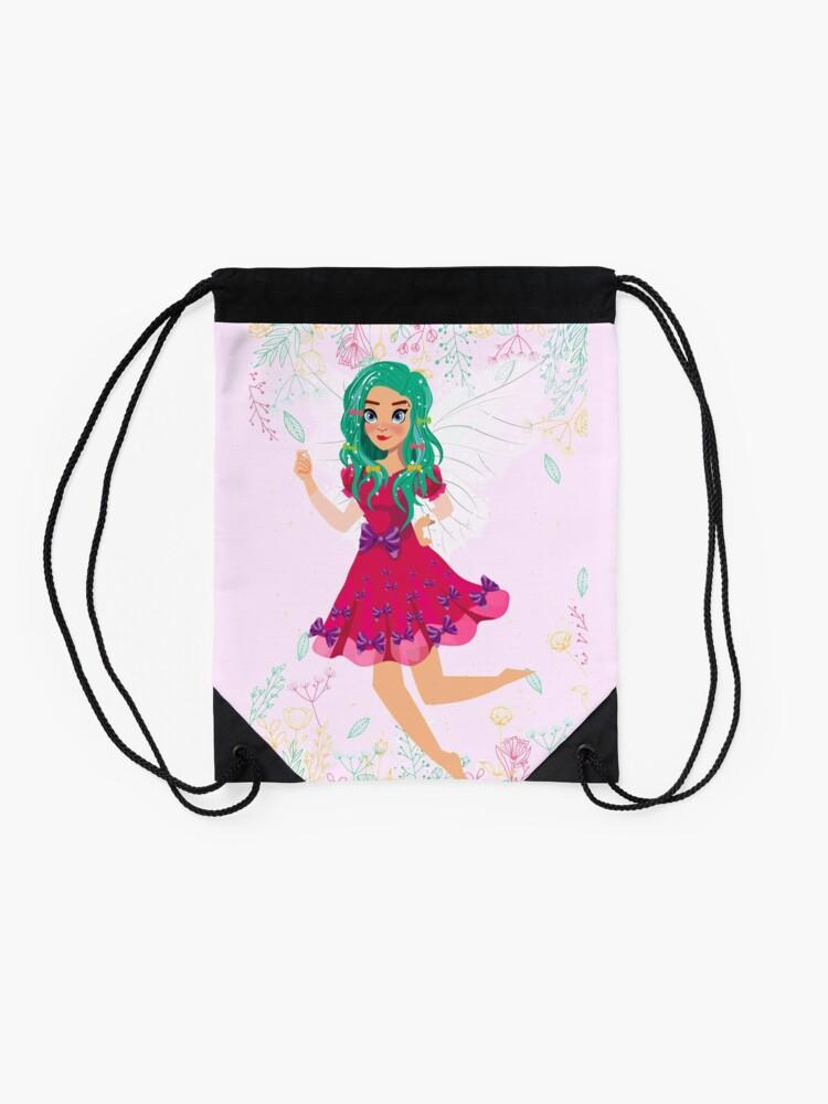 Alternate view of Ruby The Ribbon Fairy At Play™ Drawstring Bag