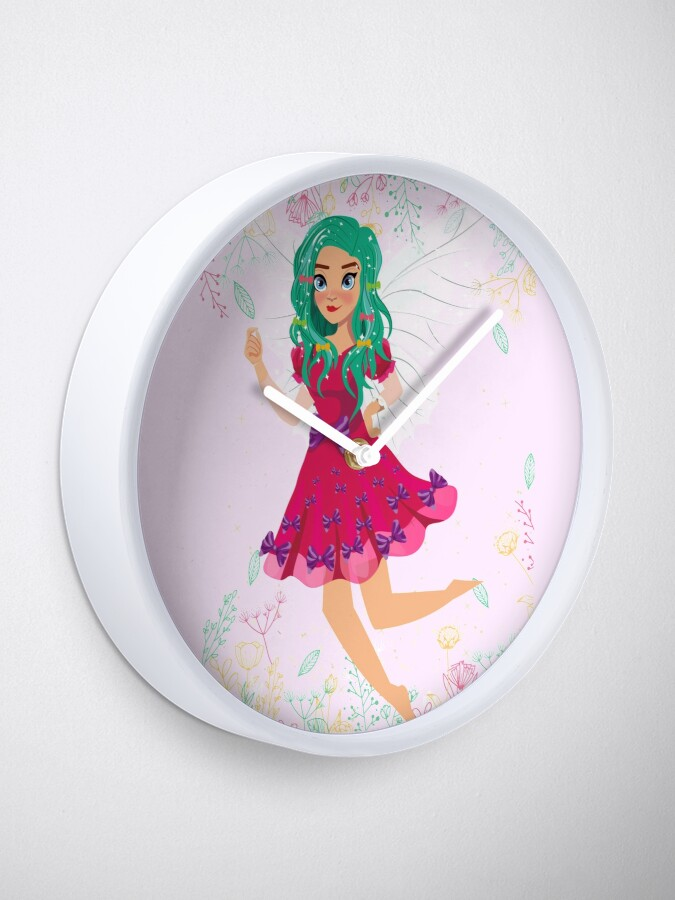 Alternate view of Ruby The Ribbon Fairy At Play™ Clock