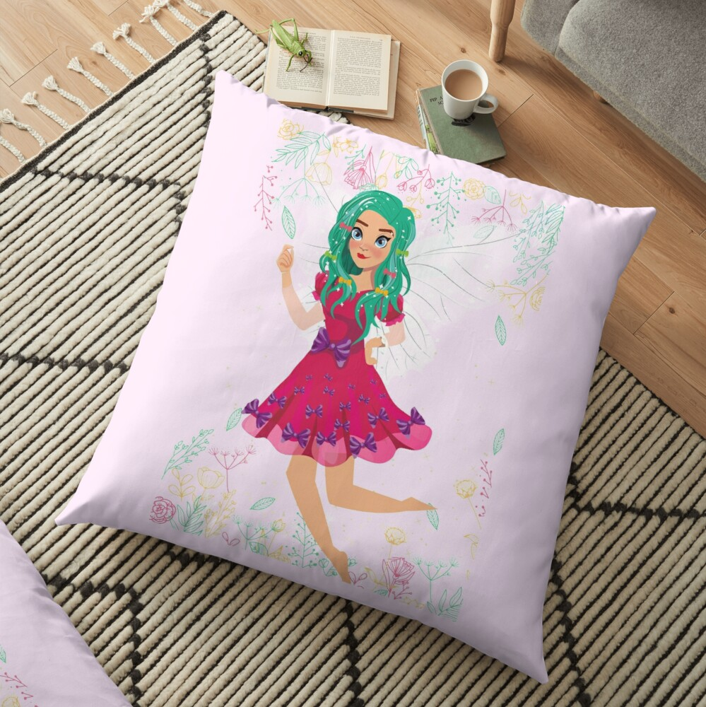 Ruby The Ribbon Fairy At Play™ Floor Pillow