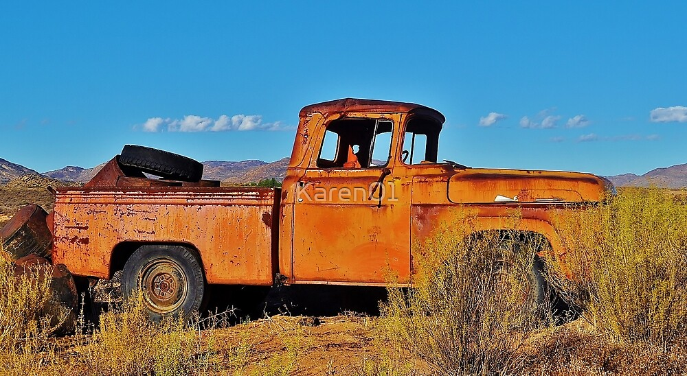 Truck at the end of a track by Karen01