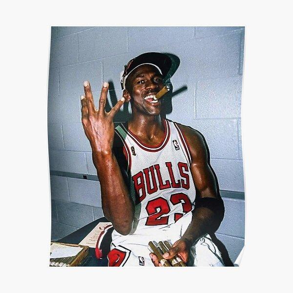 1998 michael jordan cigar  Poster