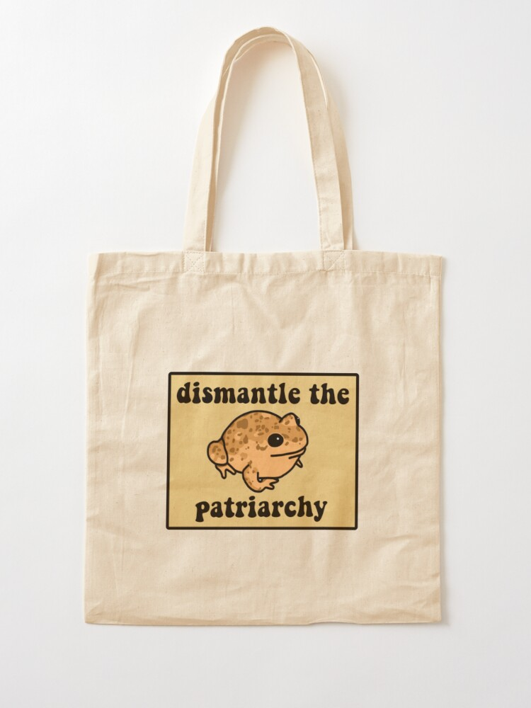 Alternate view of Dismantle The Patriarchy Frog Tote Bag