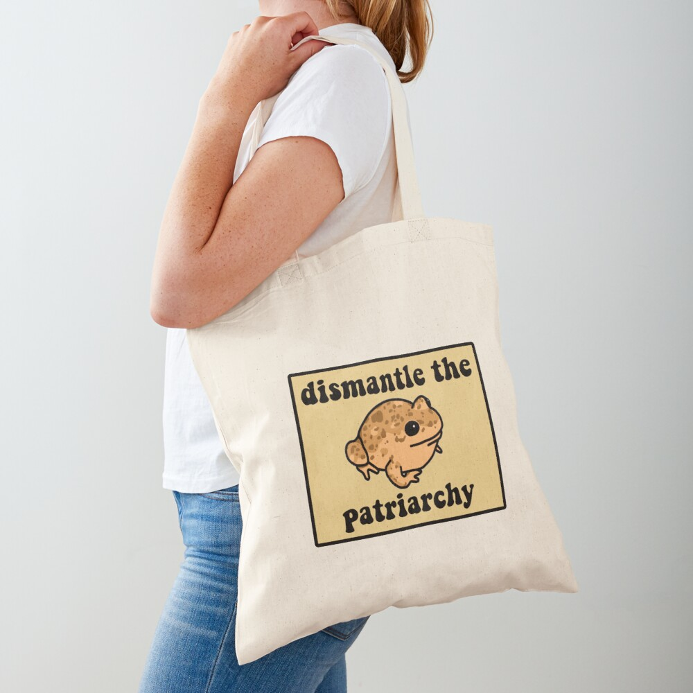 Dismantle The Patriarchy Frog Tote Bag