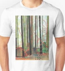Embroidered Forest, mixed media and zentangles Unisex T-Shirt