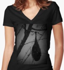 Bat Tee/Hoodie Women's Fitted V-Neck T-Shirt