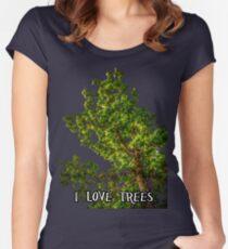 I love trees Tee/Hoodie Women's Fitted Scoop T-Shirt