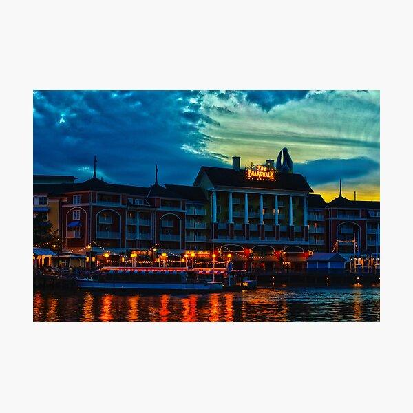 Disney's Boardwalk Resort High Dynamic Range Photographic Print