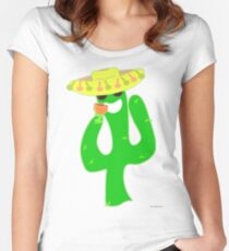 Party On Party Cactus Women's Fitted Scoop T-Shirt