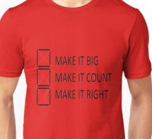 Make It Right Check Unisex T-Shirt